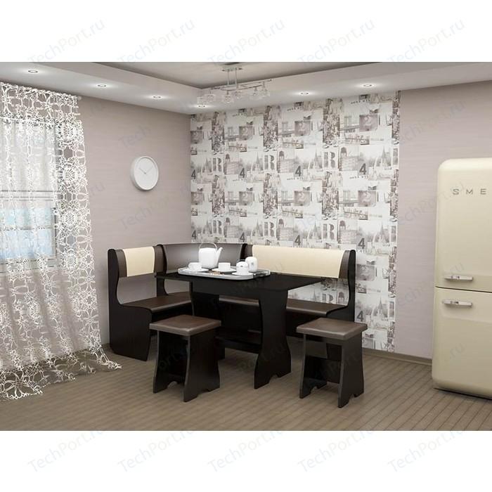 Кухонный уголок Феникс Тип 1 венге/шоколад-бежевый