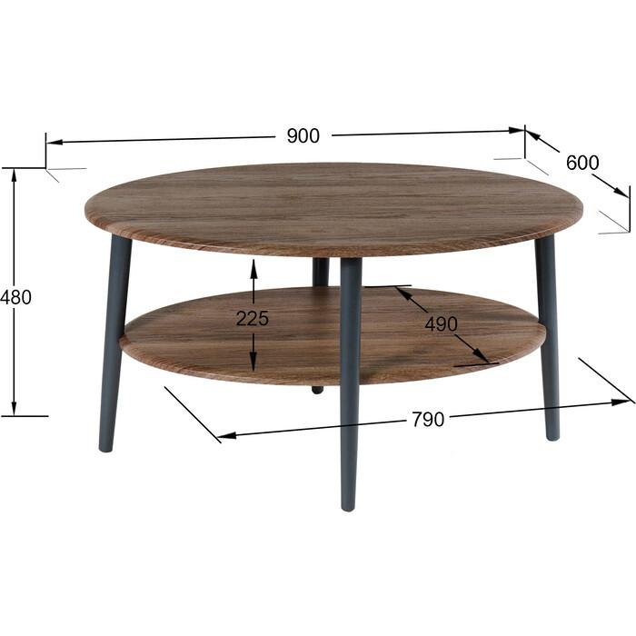 Стол журнальный Калифорния мебель Эль СЖ-01 грецкий орех детские столы и стулья калифорния мебель стол журнальный эль сж 01