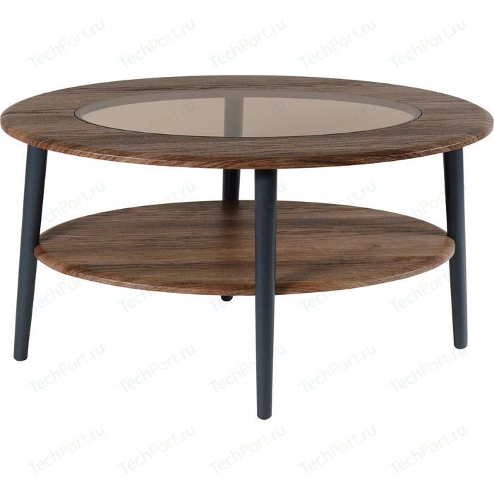 Стол журнальный Калифорния мебель Эль со стеклом СЖС-01 грецкий орех недорого