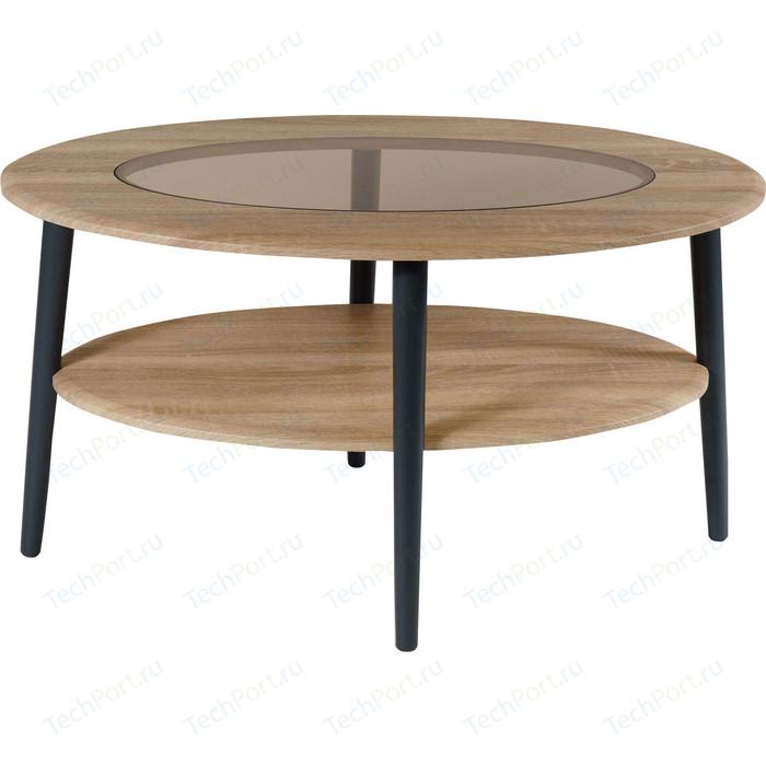Стол журнальный Калифорния мебель Эль со стеклом СЖС-01 дуб сонома стол журнальный калифорния мебель юпитер со стеклом дуб сонома