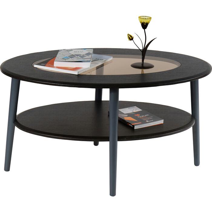Стол журнальный Калифорния мебель Эль со стеклом СЖС-01 венге стол журнальный калифорния мебель маэстро сжс 02 со стеклом дуб венге
