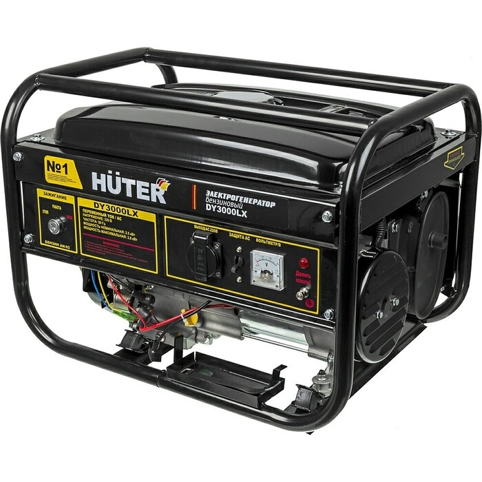 Фото - Генератор бензиновый Huter DY3000LX бензиновый генератор huter dy3000lx 2500 вт