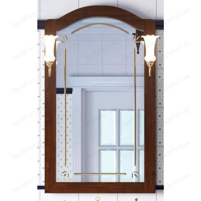 Зеркало Opadiris Лоренцо 60 для светильников 00000001041, Z0000001408, светлый орех Р10 (Z0000011063) зеркало в деревянной раме opadiris клио 65 антикварный орех для светильников 00000001041 z0000001408 z0000004272