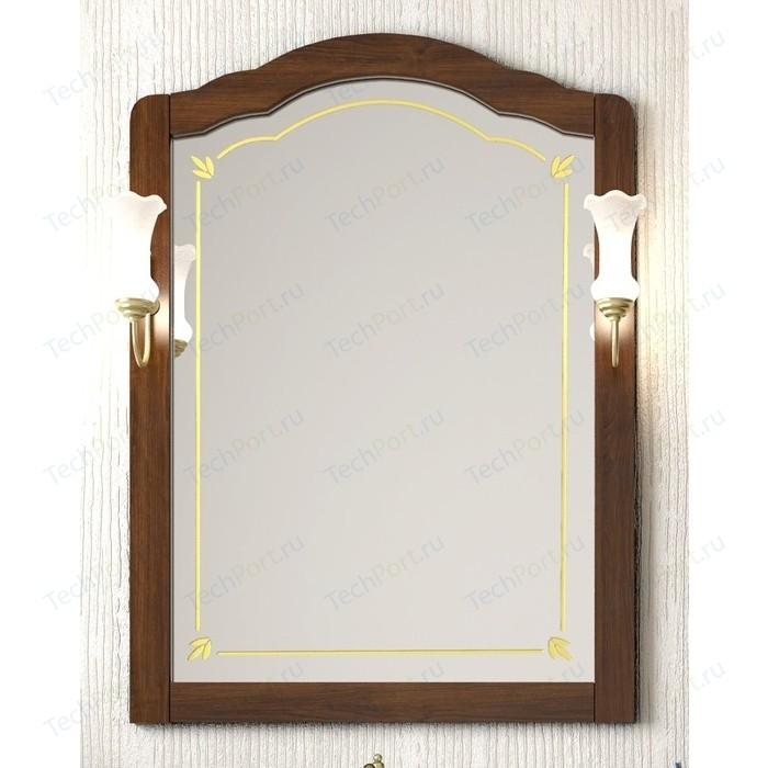 Зеркало Opadiris Лоренцо 80 для светильников 00000001041, Z0000001408, светлый орех Р10 (Z0000006756) зеркало в деревянной раме opadiris клио 65 антикварный орех для светильников 00000001041 z0000001408 z0000004272