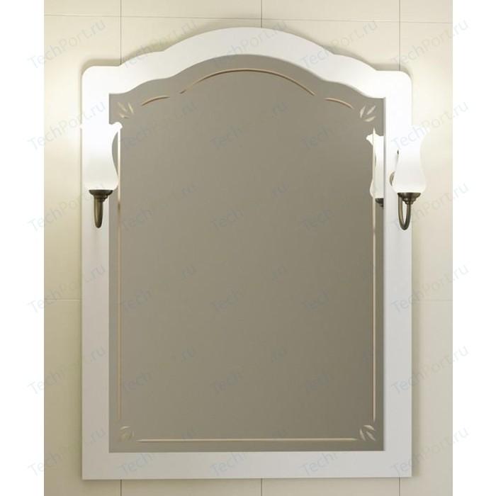 Зеркало Opadiris Лоренцо 80 для светильников 00000001041, Z0000001408, белый матовый 9003 (Z0000008464) зеркало в деревянной раме opadiris клио 65 антикварный орех для светильников 00000001041 z0000001408 z0000004272