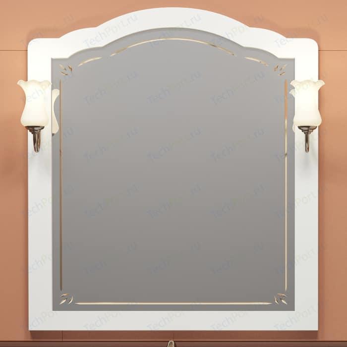 Зеркало Opadiris Лоренцо 100 для светильников 00000001041, Z0000001408, белый матовый 9003 (Z0000008465) зеркало в деревянной раме opadiris клио 65 антикварный орех для светильников 00000001041 z0000001408 z0000004272