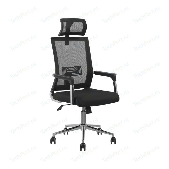 Кресло Стимул-групп CTK-XH-6125 CH Bl (черный пластик) black (черная сетка)