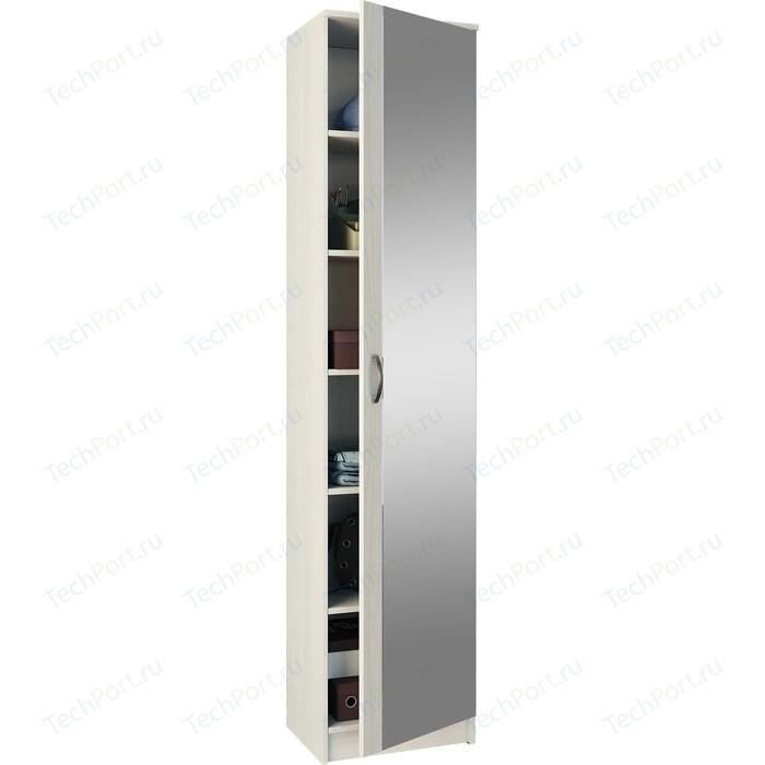 Шкаф однодверный с зеркалом Мастер Ольга (белый) МСТ-ПДО-Ш1-БТ-З1
