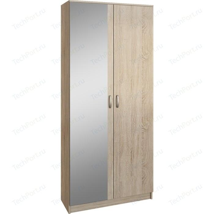 Шкаф двухдверный с зеркалом Мастер Ольга (дуб сонома) МСТ-ПДО-Ш2-ДС-З2