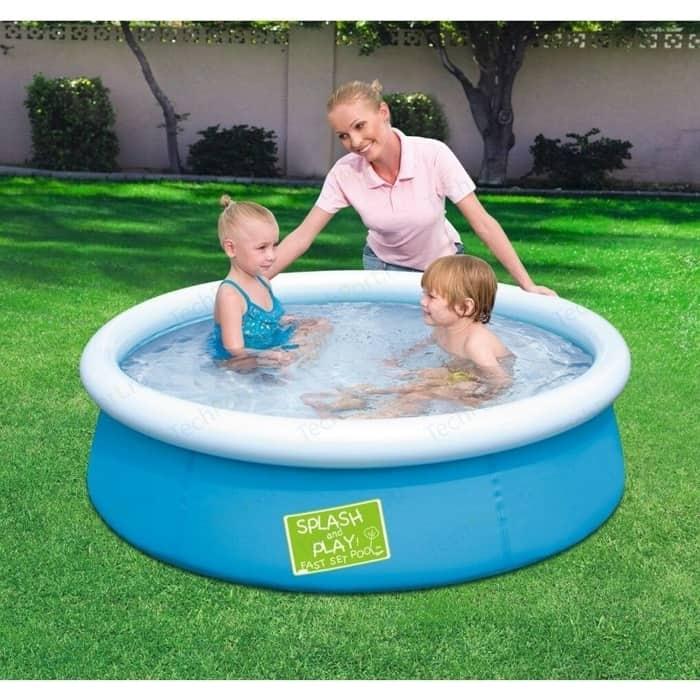 Фото - Надувной бассейн Bestway с надувным верхом 152x38 см (57241) 480л детский бассейн bestway splash and play 57241