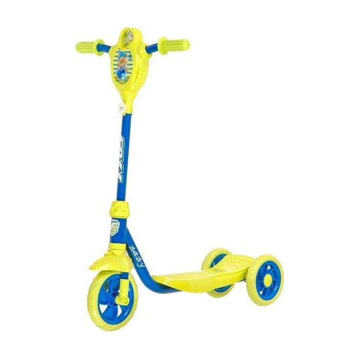 Самокат 2-х колесный FOXX городской Baby с пластиковой платформой и EVA колесами 115мм лимонно-синий