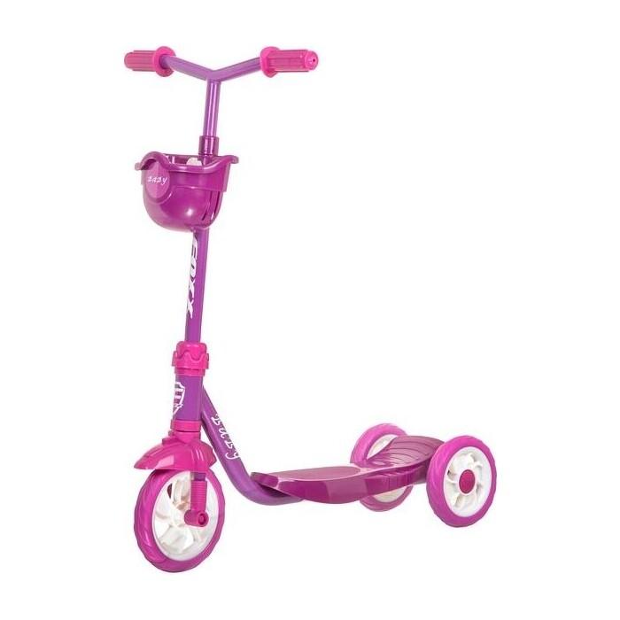 Самокат 2-х колесный FOXX городской Baby с пластиковой платформой и EVA колесами 115мм корзинка фиолет