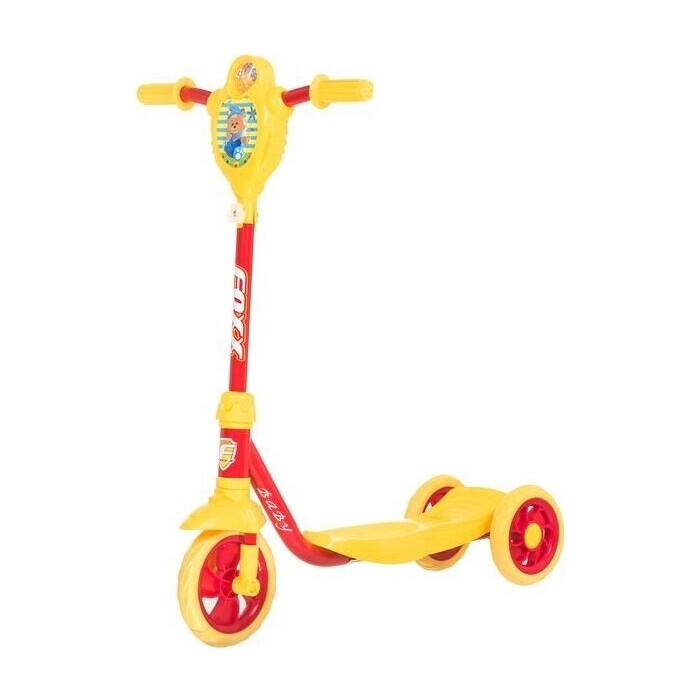 Самокат 2-х колесный FOXX городской Baby с пластиковой платформой и EVA колесами 115мм желто-красный