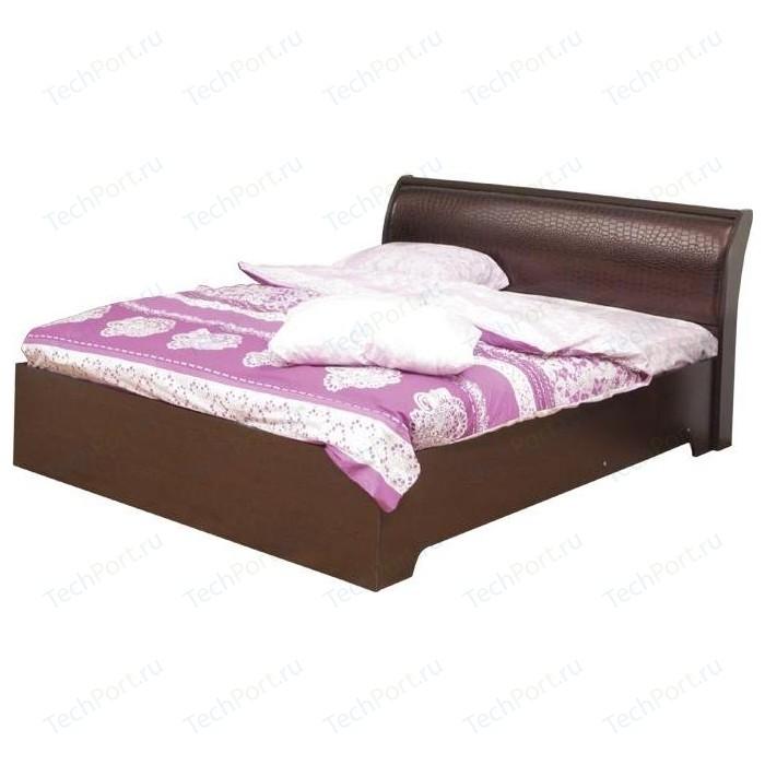 Кровать Олимп 06.298 Мона венге/крок коричневый 200x140