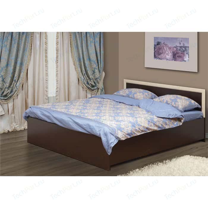 Кровать двойная с откидным механизмом Олимп 21.53 венге/дуб линдберг 160x200 недорого