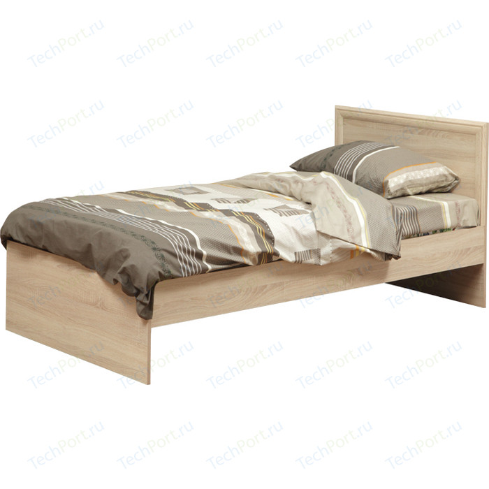 Кровать одинарная Олимп 21.55 дуб сонома 90x200 недорого