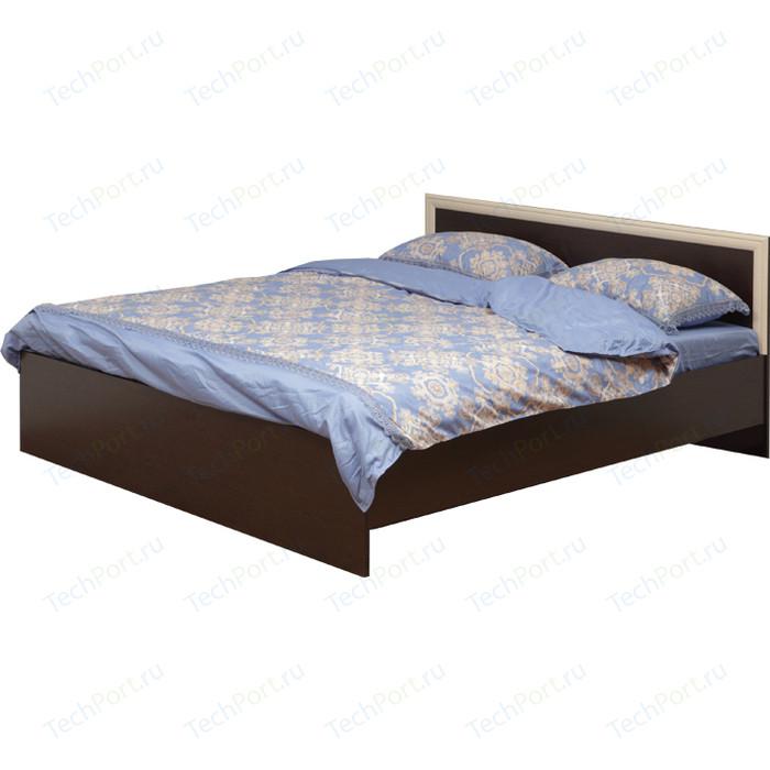 Кровать двойная Олимп 21.53-01 венге/дуб линдберг 160x200 шкаф купе олимп арго 06 245 венге дуб линдберг