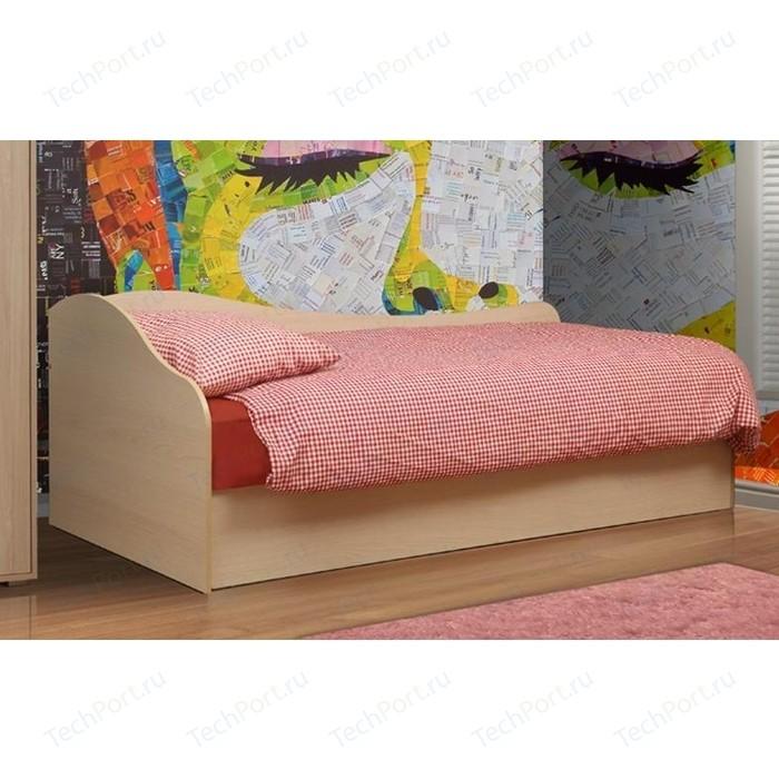 Кровать одинарная Олимп Тони-10 дуб линдберг