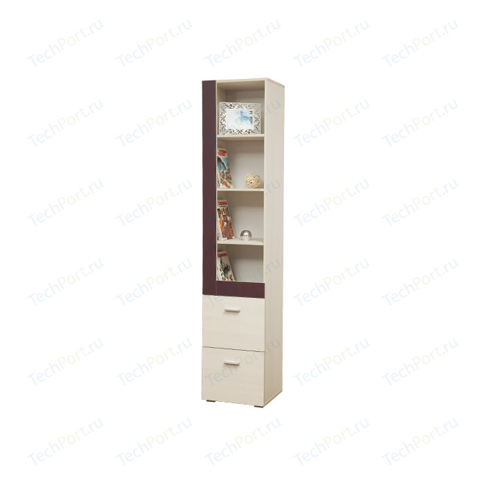 Шкаф комбинированный Олимп 06.18 Next вудлайн кремовый/баклажан