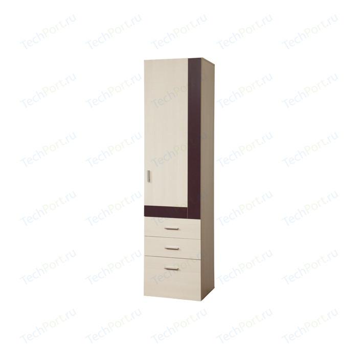 Шкаф комбинированный Олимп 06.18-01 Next вудлайн кремовый/баклажан
