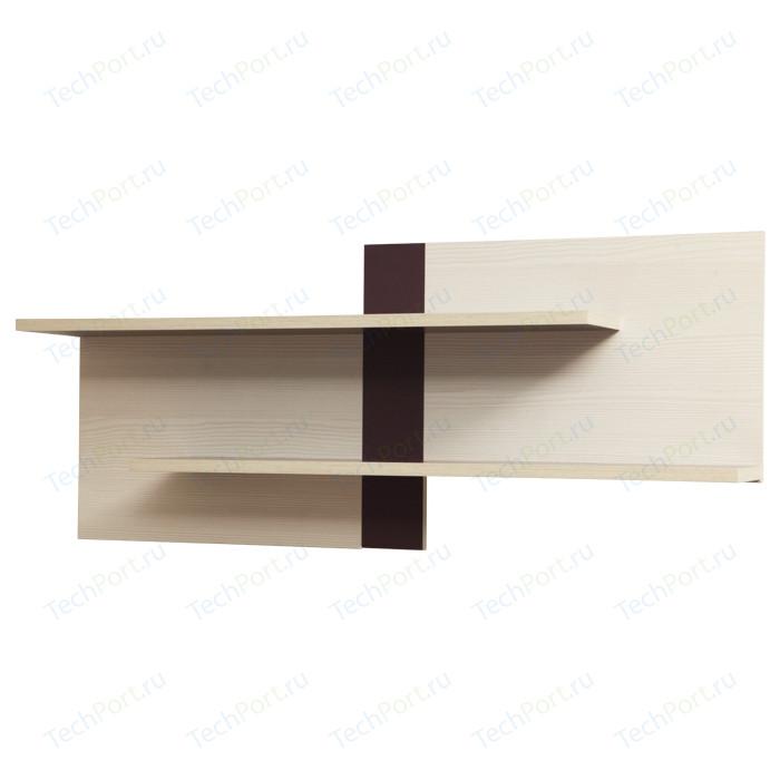 Полка для книг Олимп ПК-1 вудлайн кремовый/баклажан