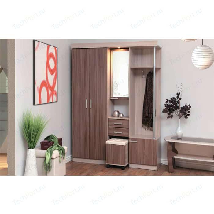 Шкаф комбинированный Олимп Дебют - 5 ясень светлый/ясень темный