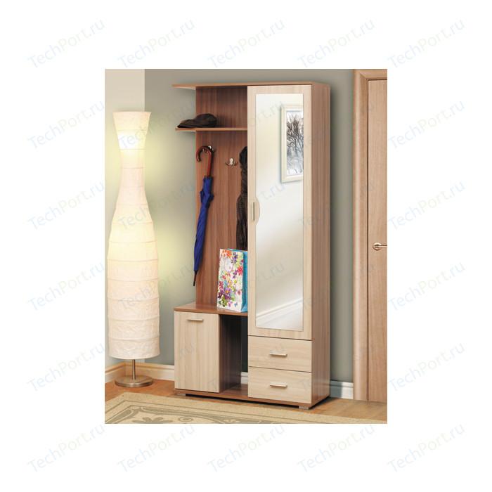Шкаф комбинированный Олимп Кармен - 1 ясень светлый/ясень темный