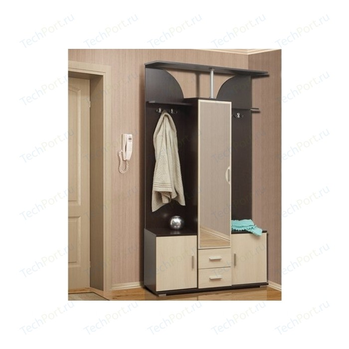Шкаф комбинированный Олимп Кармен - 6 венге/дуб линдберг