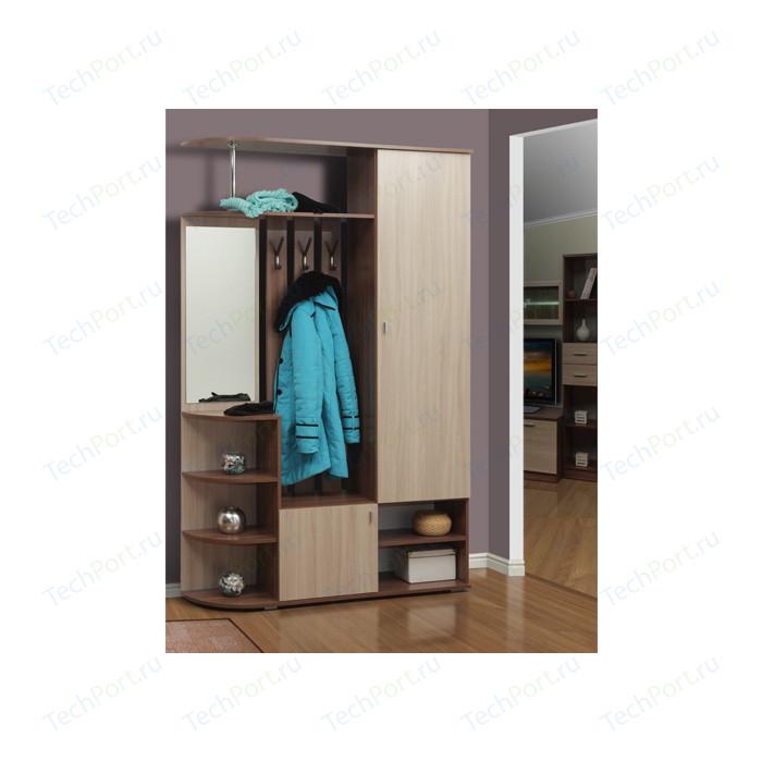 Шкаф комбинированный Олимп Кармен-7 ясень шимо темный/светлый