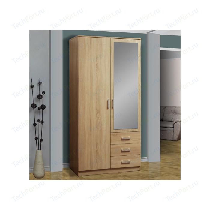 Шкаф комбинированный Олимп 06.290 дуб сонома зеркало
