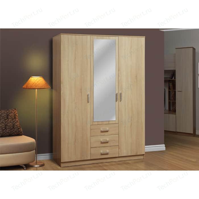 Шкаф комбинированный Олимп 06.291 дуб сонома с зеркалом