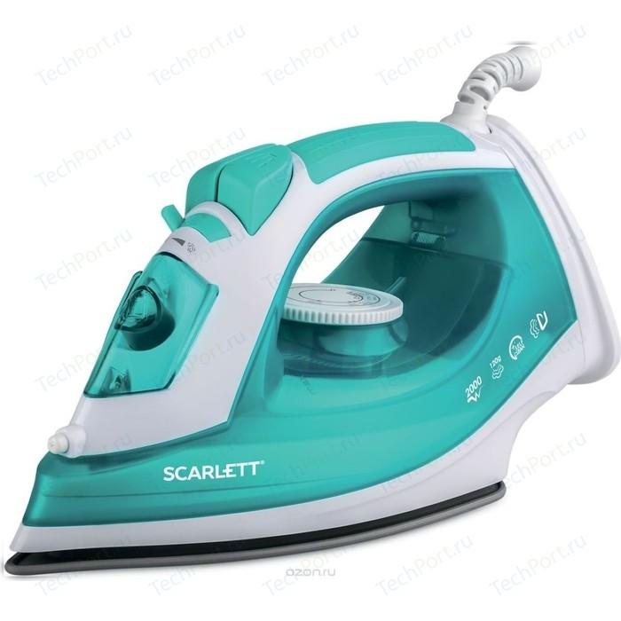 Утюг Scarlett SC-SI30P09 белый/бирюзовый утюг scarlett sc si30p17 голубой белый
