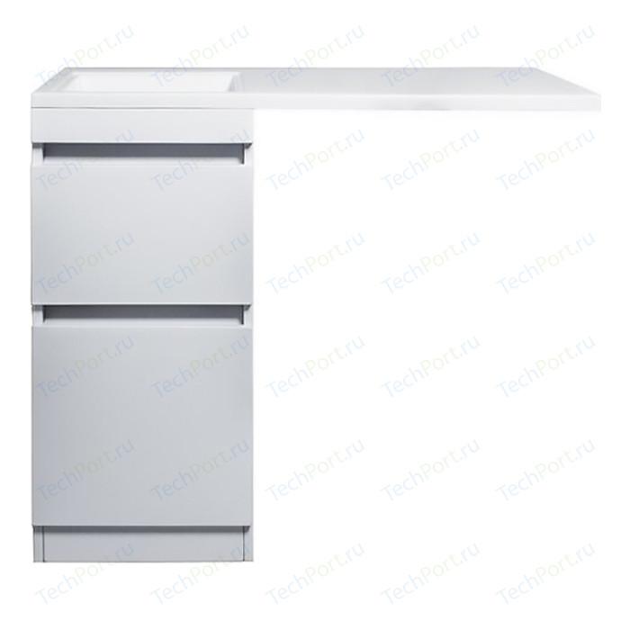 Тумба под раковину Style line Даллас Люкс 38 (100) напольная, стиральную машину, белая (2000949102153)