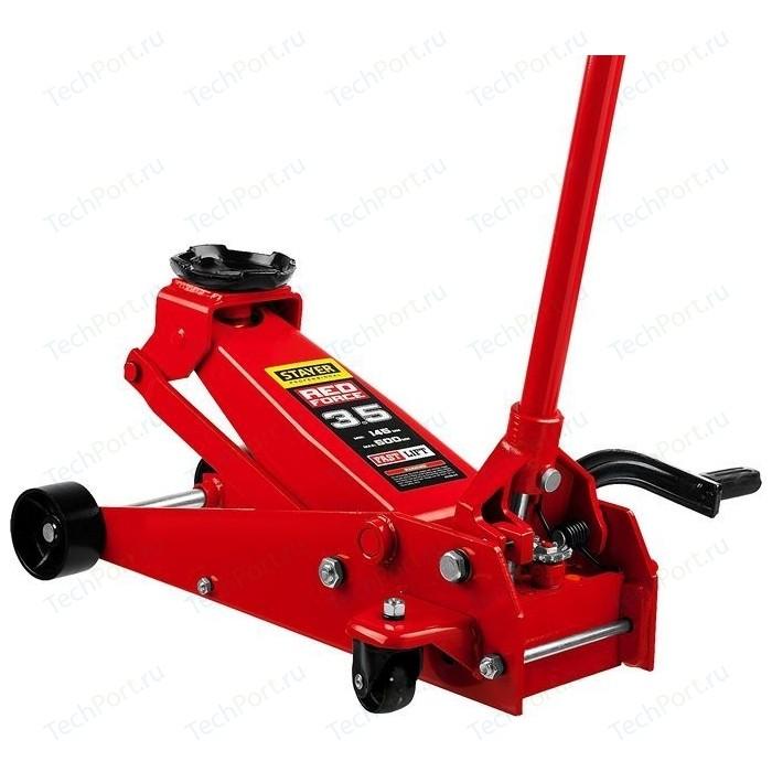 Домкрат подкатной гидравлический Stayer 3,5т Red Force с педалью (43155-3.5)