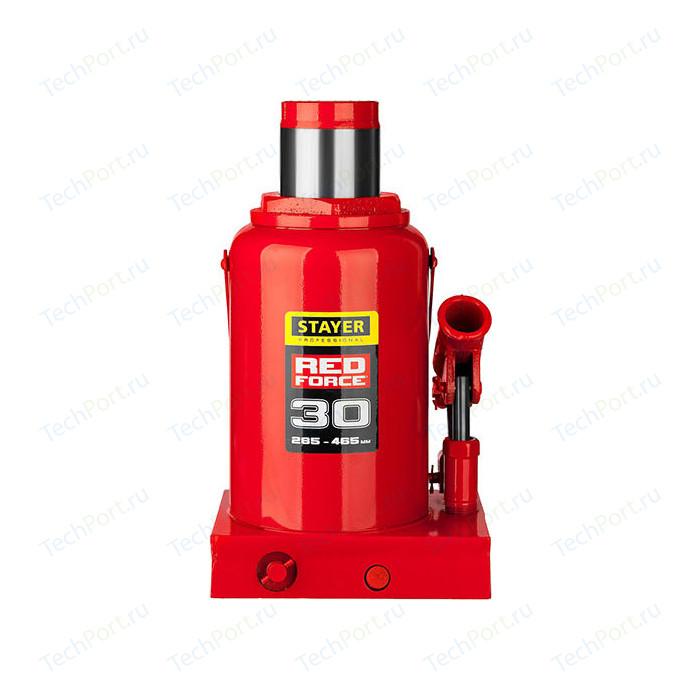 Домкрат гидравлический бутылочный Stayer 30т, Red Force (43160-30-z01) домкрат бутылочный гидравлический stayer red force 43160 2 k z01 2 т красный