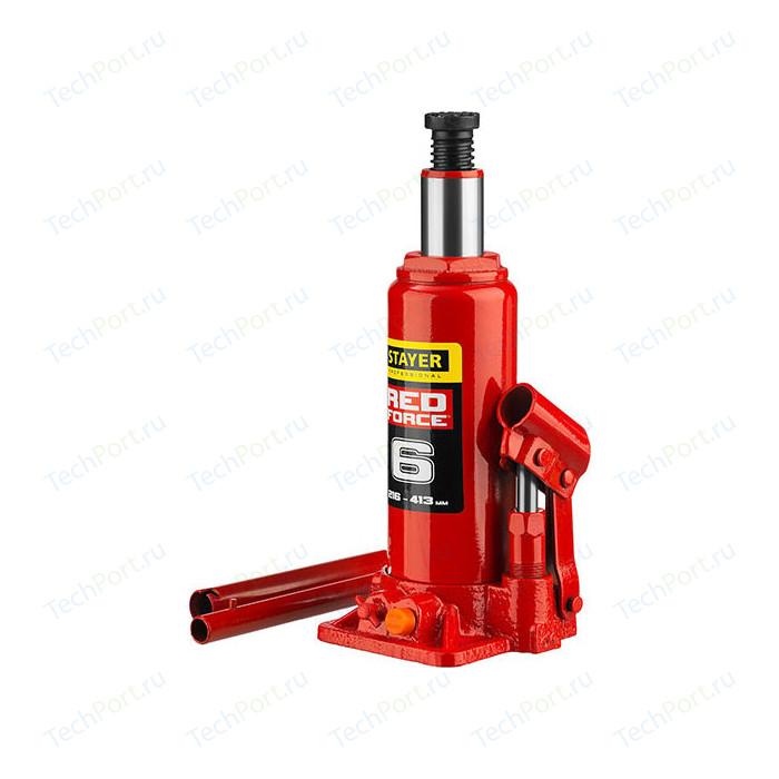 Домкрат гидравлический бутылочный Stayer 6т, в кейсе Red Force (43160-6-K-z01)
