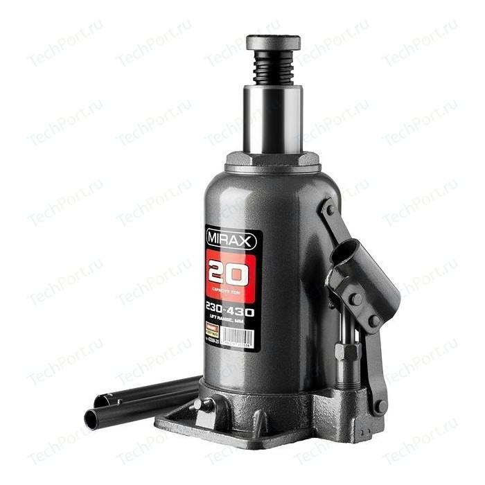 Домкрат гидравлический бутылочный MIRAX 20т (43260-20)