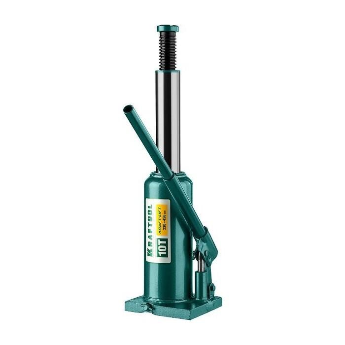 Домкрат гидравлический бутылочный Kraftool 10т, Kraft-Lift (43462-10-z01) домкрат гидравлический бутылочный kraftool 10т kraft lift 43462 10 z01