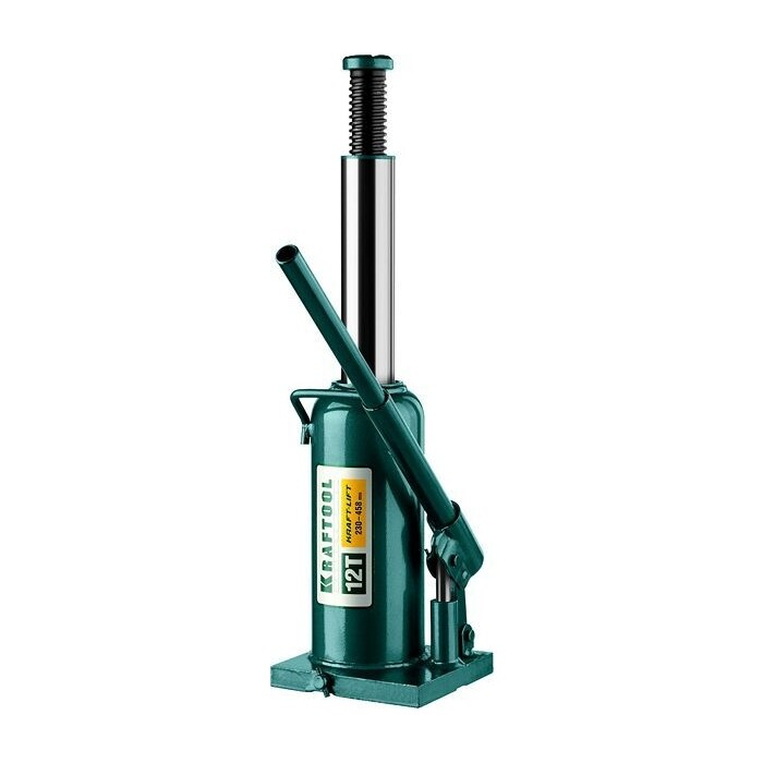 Домкрат гидравлический бутылочный Kraftool 12т, Kraft-Lift (43462-12-z01) домкрат гидравлический бутылочный kraftool 10т kraft lift 43462 10 z01