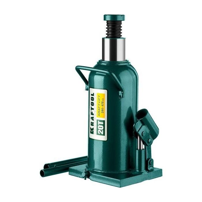 Домкрат гидравлический бутылочный Kraftool 20т, Kraft-Lift (43462-20-z01) домкрат гидравлический бутылочный kraftool 10т kraft lift 43462 10 z01