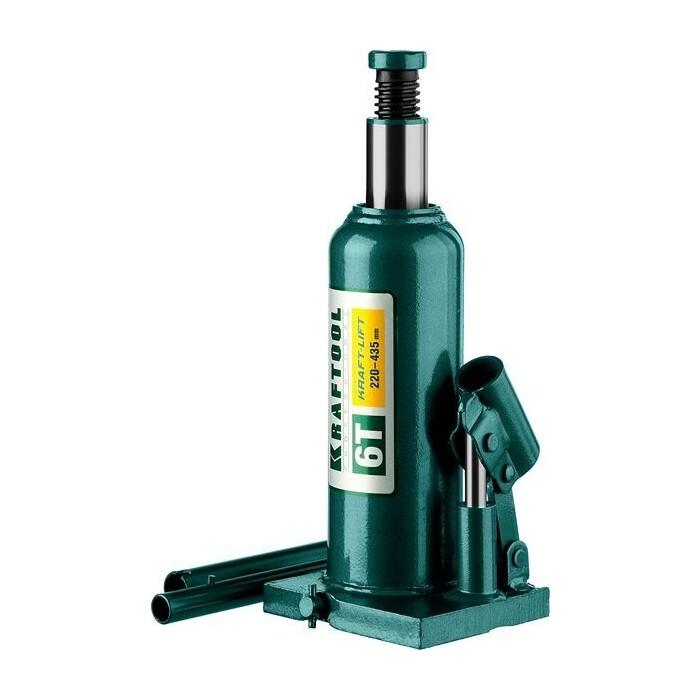 Домкрат гидравлический бутылочный Kraftool 6т, Kraft-Lift (43462-6-z01) домкрат гидравлический бутылочный kraftool 10т kraft lift 43462 10 z01