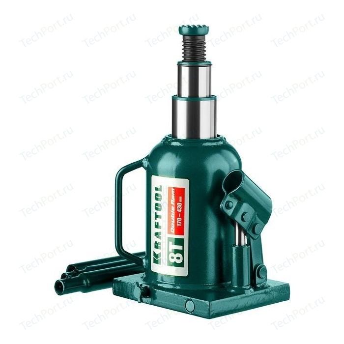 Домкрат гидравлический бутылочный Kraftool 8т, Double Ram (43463-8)
