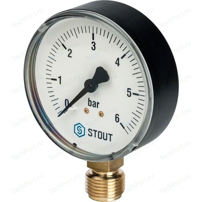 Манометр STOUT радиальный Dn 80 мм 1/2 (SIM-0010-800615)