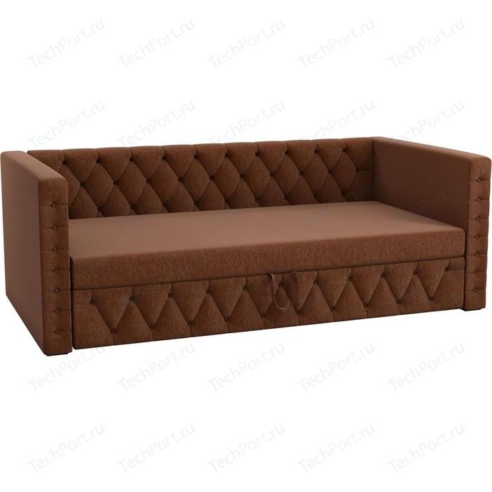 Детская кровать АртМебель Таранто рогожка коричневый