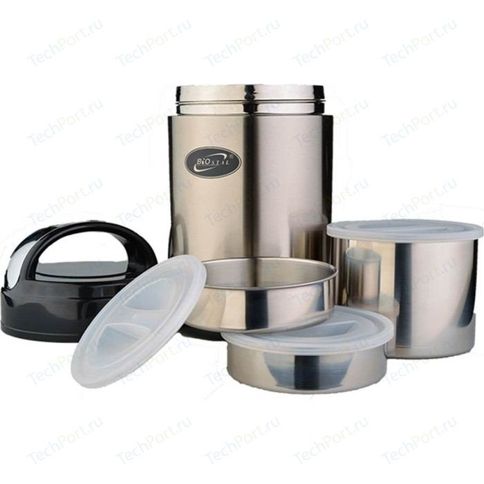 Термос для еды с 3-мя контейнерами 2.0 л Biostal (NR-2000)