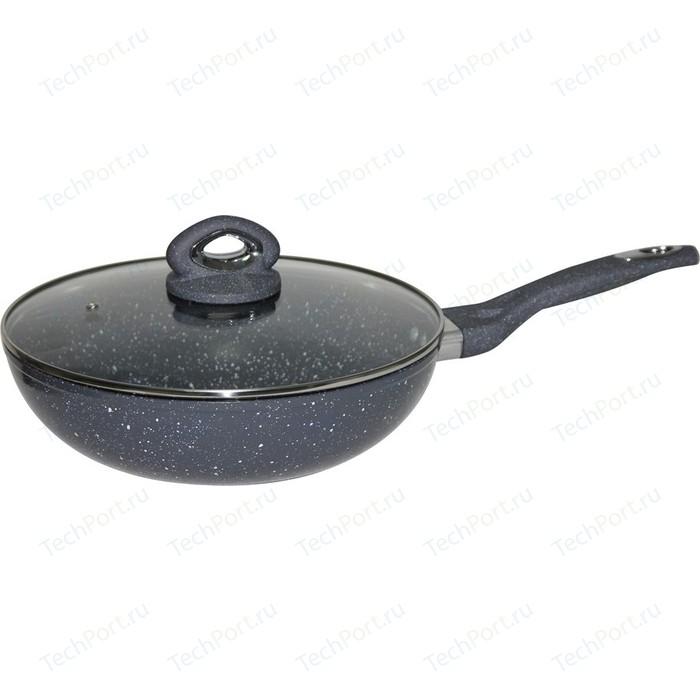 Сковорода WOK с крышкой Bekker d 34см (BK-7923)