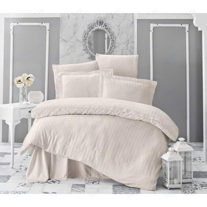 Комплект постельного белья Karna 2-х сп, бамбук, Perla кремовый (814/CHAR001) комплект постельного белья karna 2 х сп бамбук perla синий 814 char014