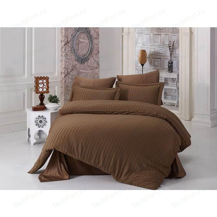 Комплект постельного белья Karna 2-х сп, бамбук, Perla коричневый (814/CHAR005) комплект постельного белья karna 2 х сп бамбук perla синий 814 char014