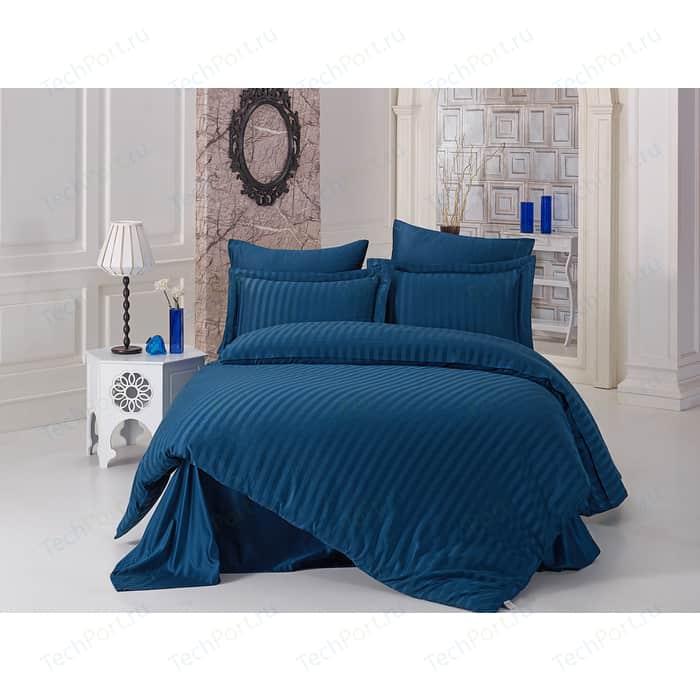 Комплект постельного белья Karna 2-х сп, бамбук, Perla синий (814/CHAR014)