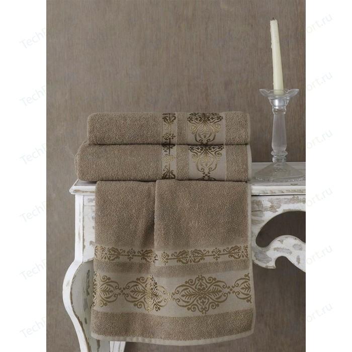 Полотенце Karna Rebeka 70x140 см кофейный (2658/CHAR008)